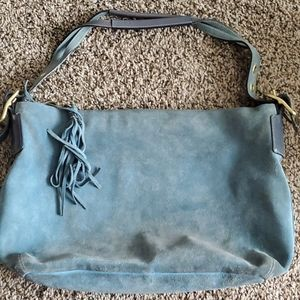 Coach Blue Suede Bag Purse